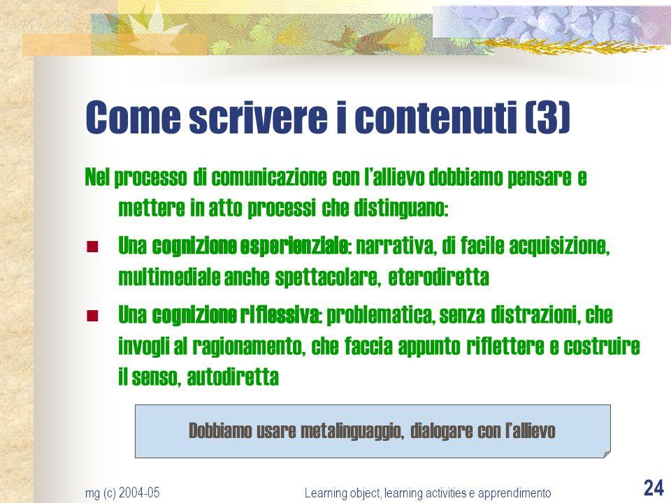 Come scrivere i contenuti (3)