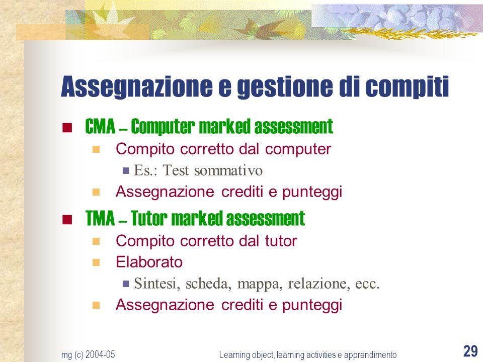 Assegnazione e gestione di compiti