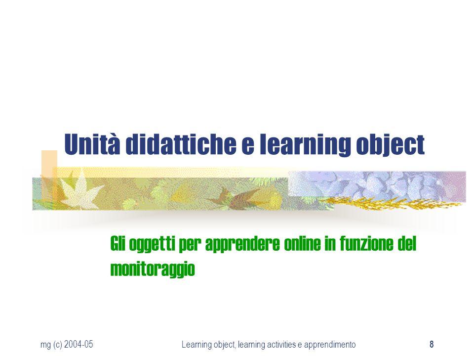Unità didattiche e learning object