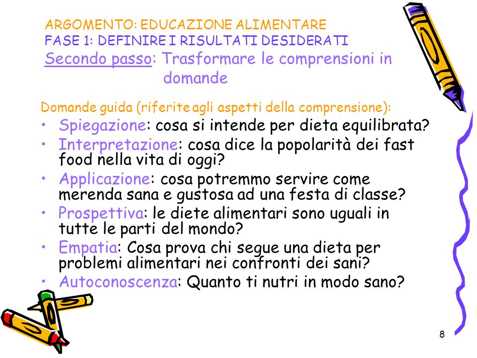 Spiegazione: cosa si intende per dieta equilibrata