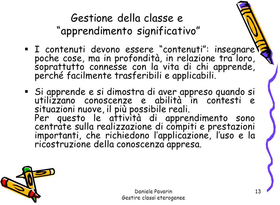 Gestione della classe e apprendimento significativo