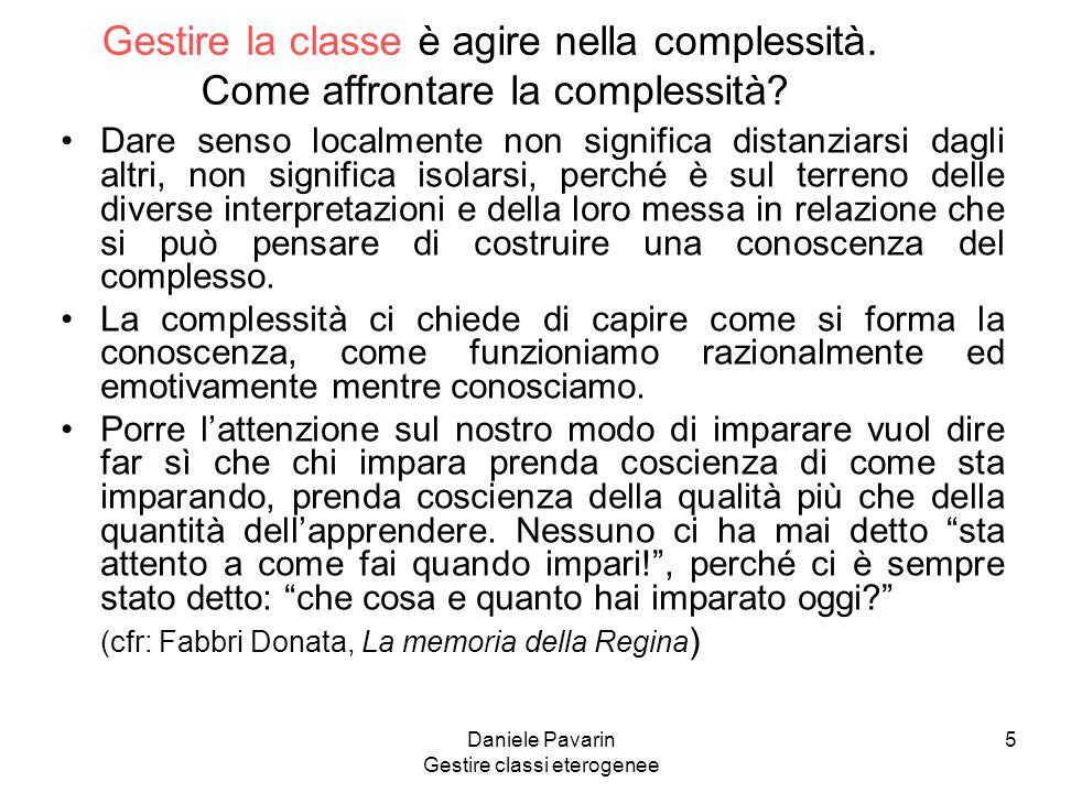 Daniele Pavarin Gestire classi eterogenee