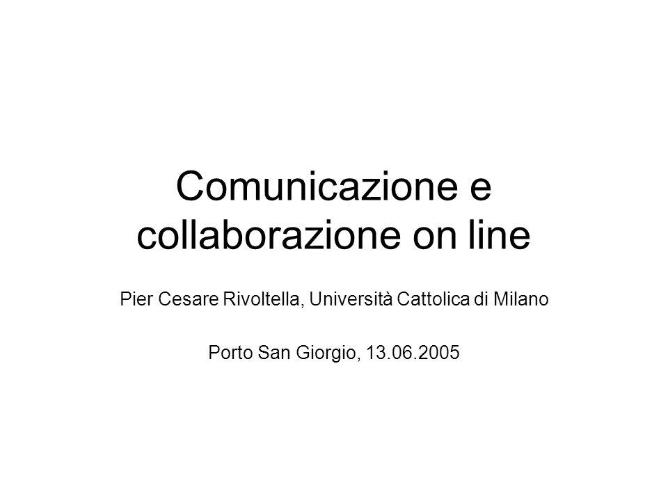 Comunicazione e collaborazione on line