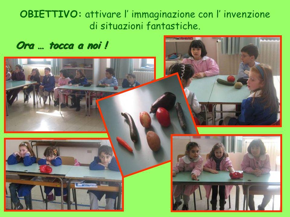 OBIETTIVO: attivare l' immaginazione con l' invenzione di situazioni fantastiche.