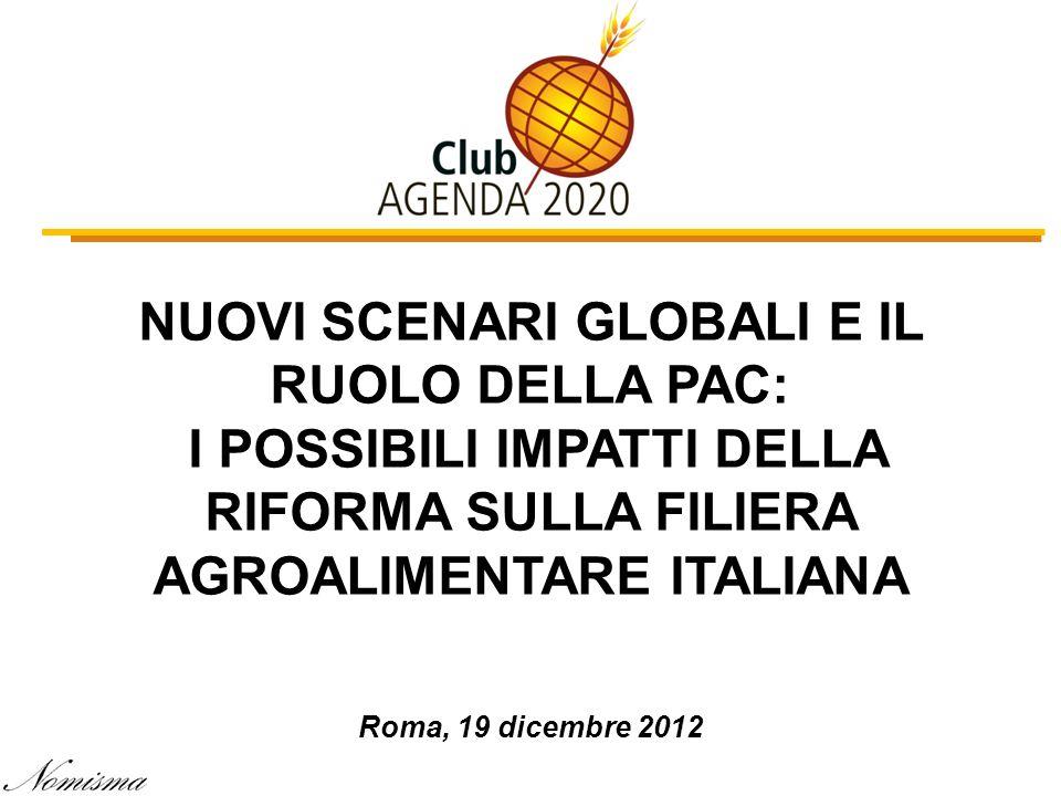 NUOVI SCENARI GLOBALI E IL RUOLO DELLA PAC: I POSSIBILI IMPATTI DELLA RIFORMA SULLA FILIERA AGROALIMENTARE ITALIANA