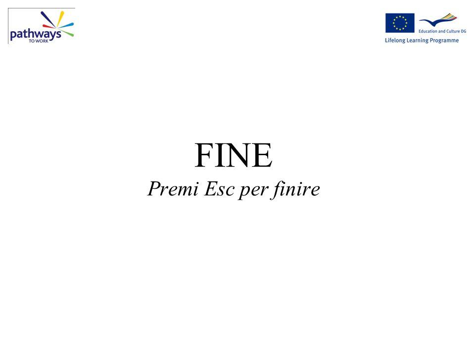 FINE Premi Esc per finire