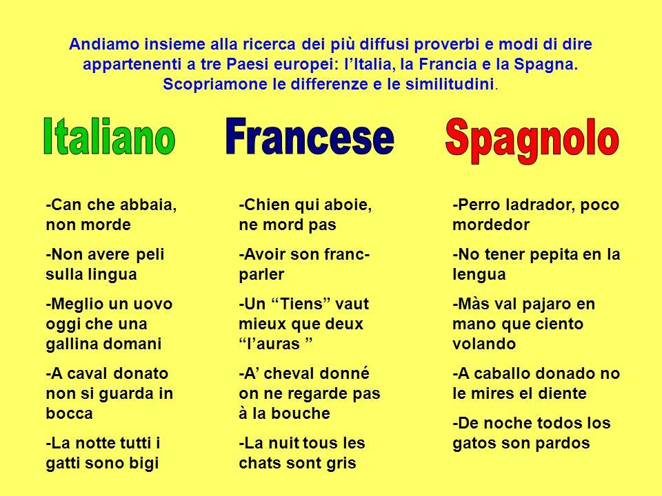 Italiano Francese Spagnolo