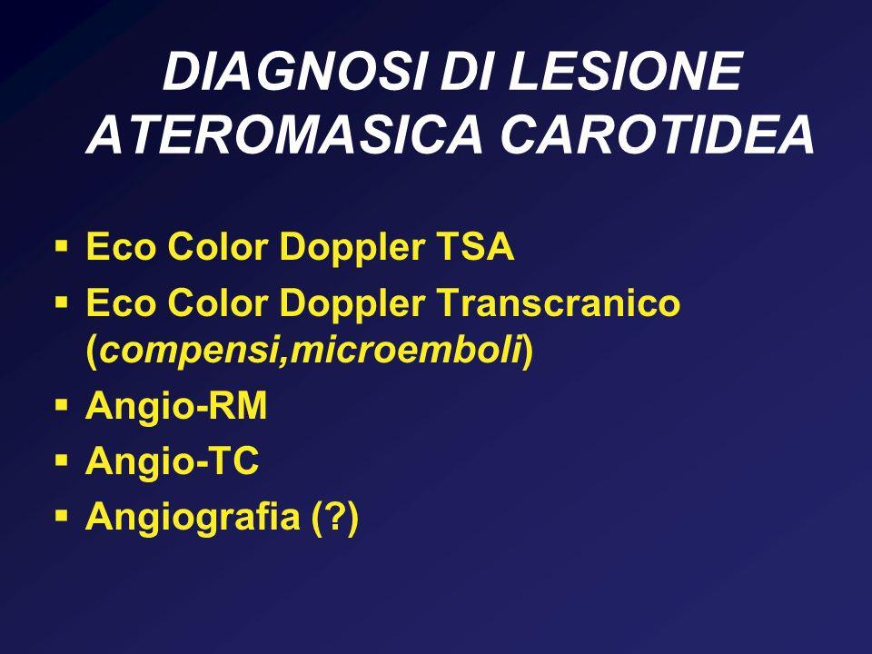 DIAGNOSI DI LESIONE ATEROMASICA CAROTIDEA