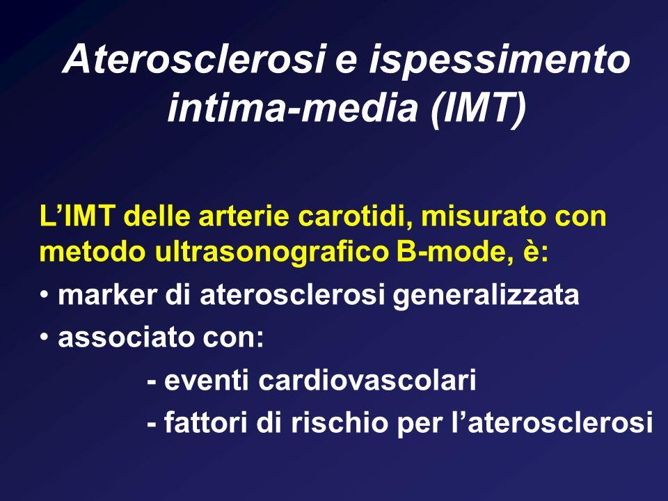 Aterosclerosi e ispessimento intima-media (IMT)