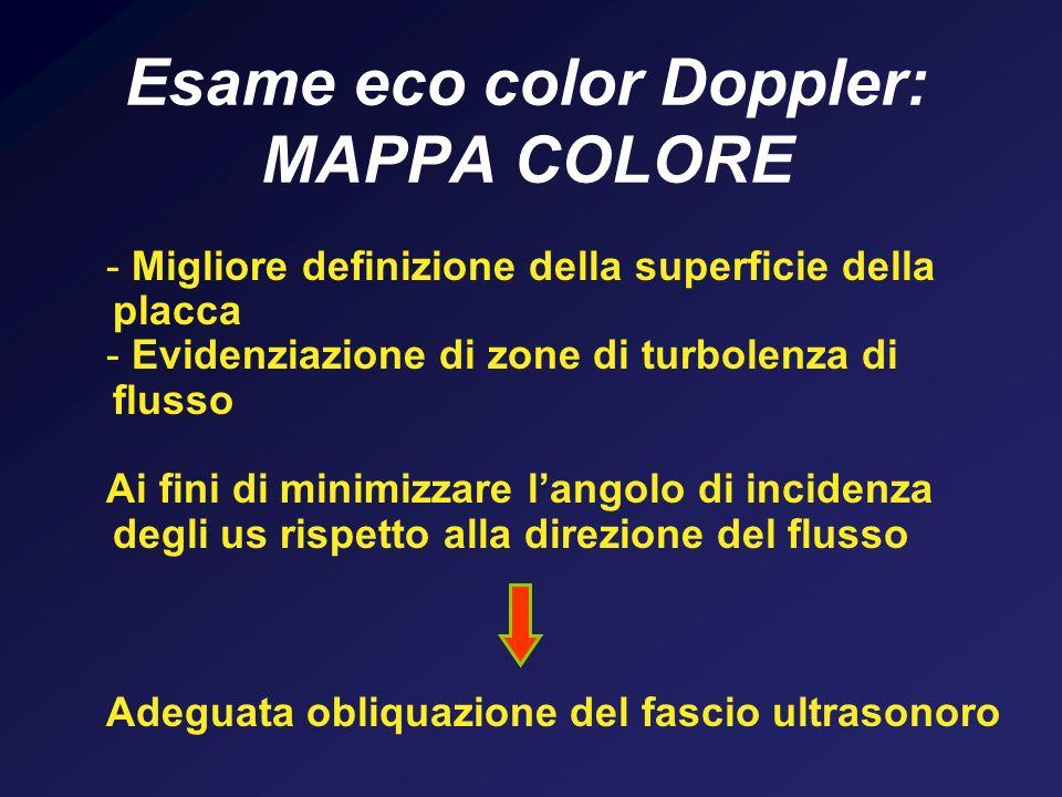 Esame eco color Doppler: MAPPA COLORE