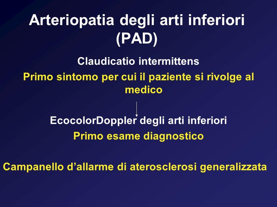Arteriopatia degli arti inferiori (PAD)
