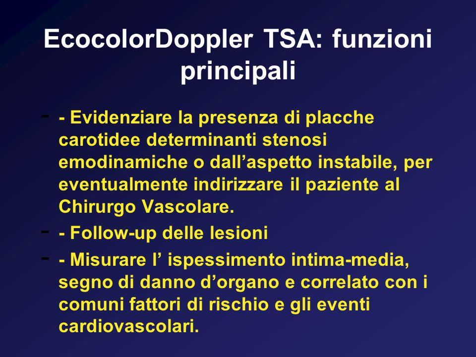 EcocolorDoppler TSA: funzioni principali