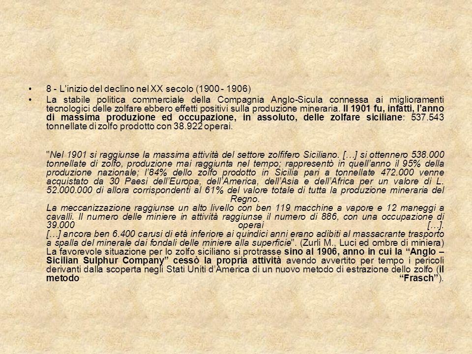 8 - L inizio del declino nel XX secolo (1900 - 1906)