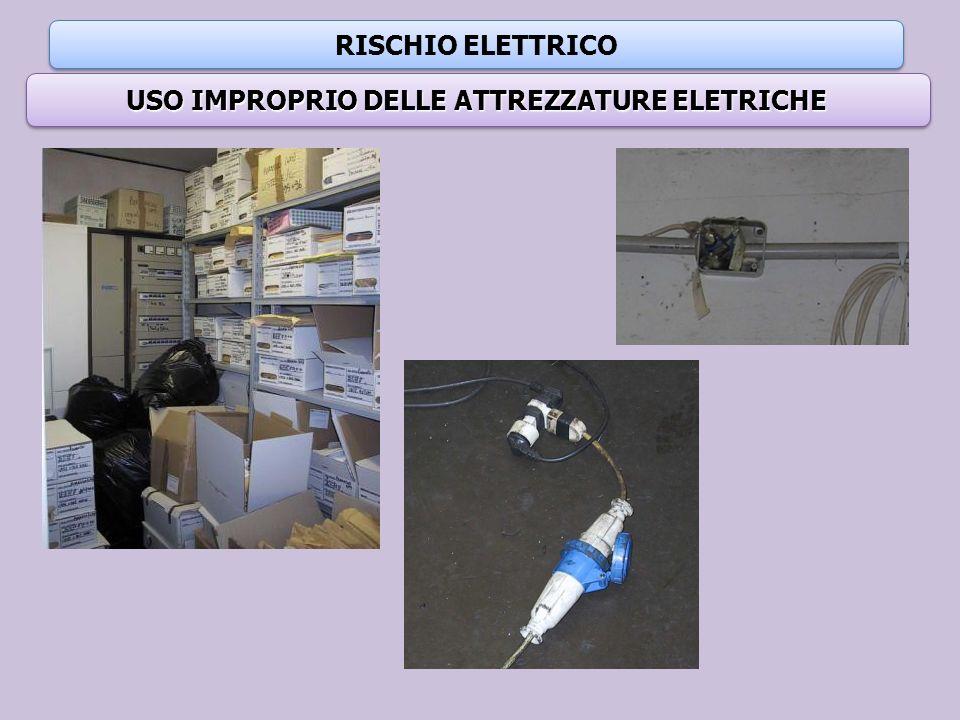 USO IMPROPRIO DELLE ATTREZZATURE ELETRICHE