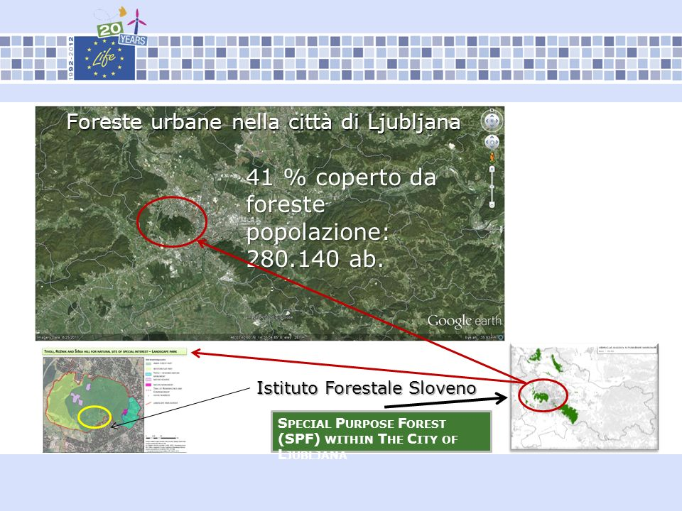 Foreste urbane nella città di Ljubljana