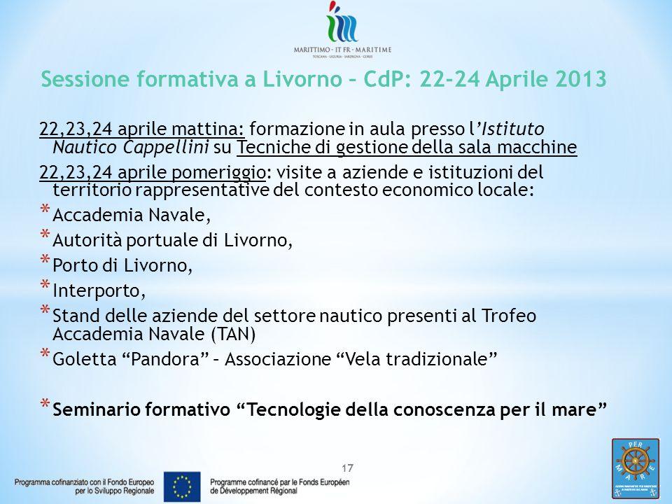 Sessione formativa a Livorno – CdP: 22-24 Aprile 2013