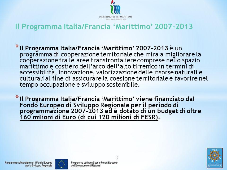 Il Programma Italia/Francia 'Marittimo' 2007-2013