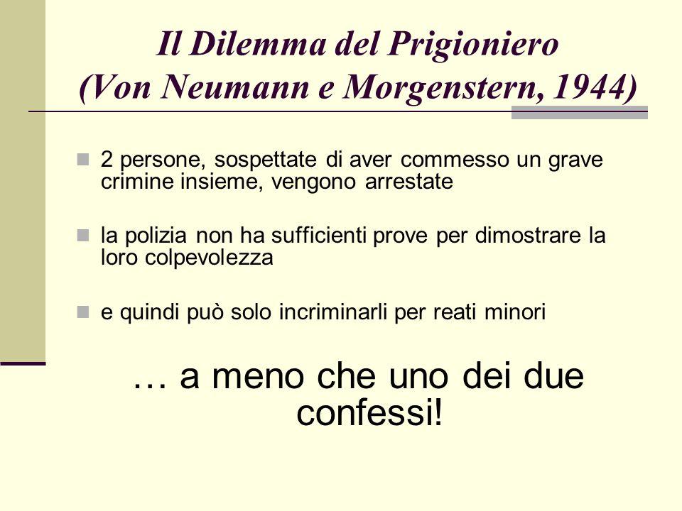Il Dilemma del Prigioniero (Von Neumann e Morgenstern, 1944)