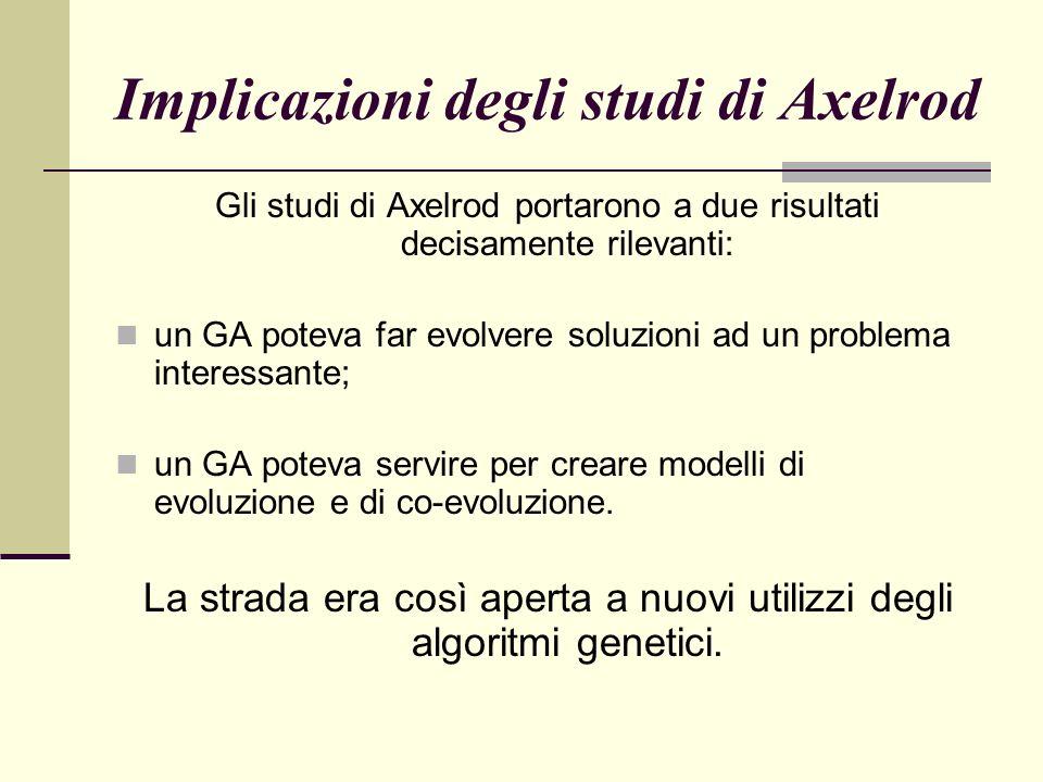 Implicazioni degli studi di Axelrod