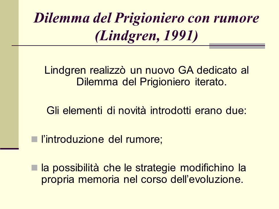Dilemma del Prigioniero con rumore (Lindgren, 1991)