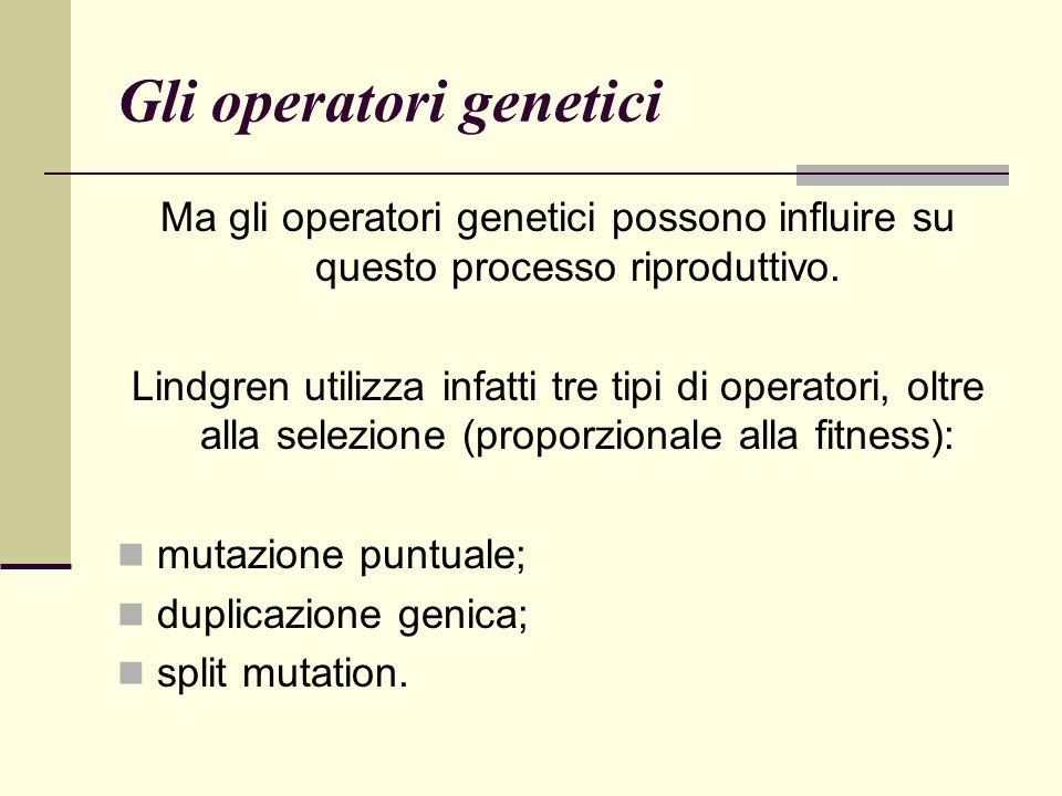 Gli operatori genetici