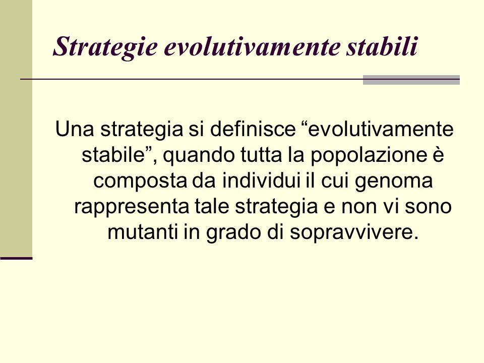 Strategie evolutivamente stabili