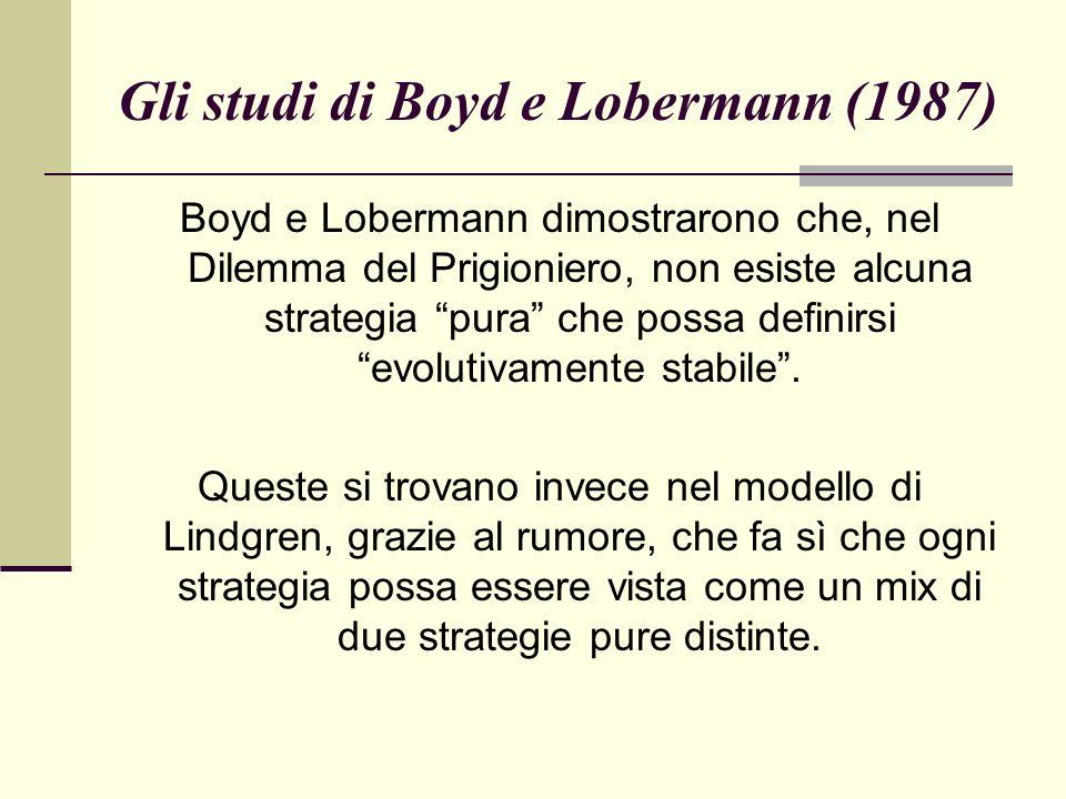 Gli studi di Boyd e Lobermann (1987)