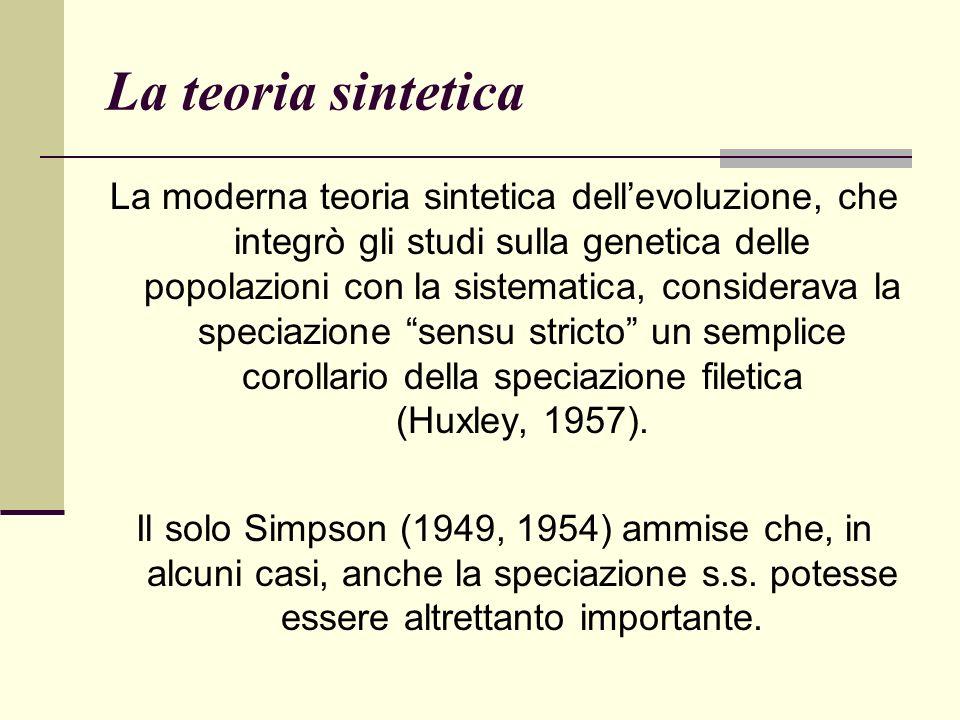 La teoria sintetica