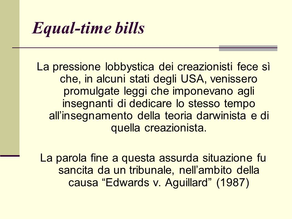Equal-time bills