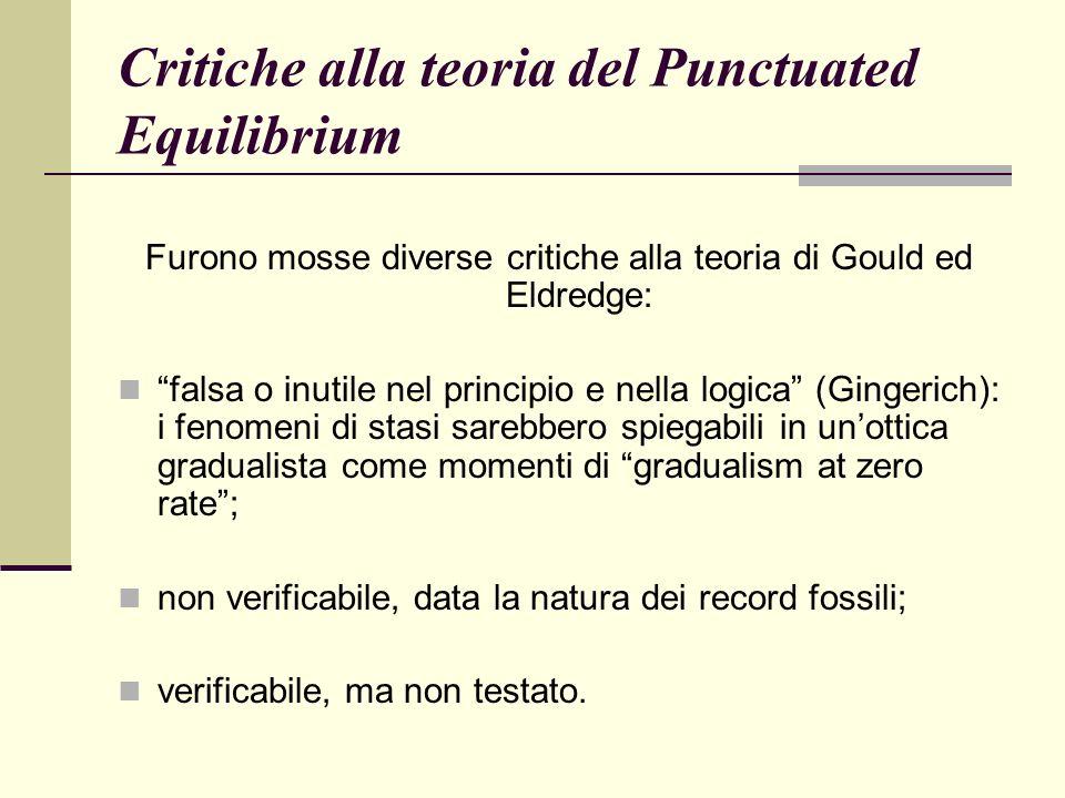 Critiche alla teoria del Punctuated Equilibrium