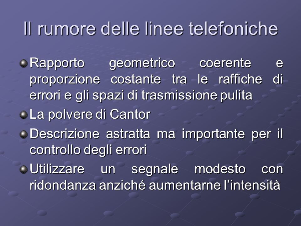 Il rumore delle linee telefoniche