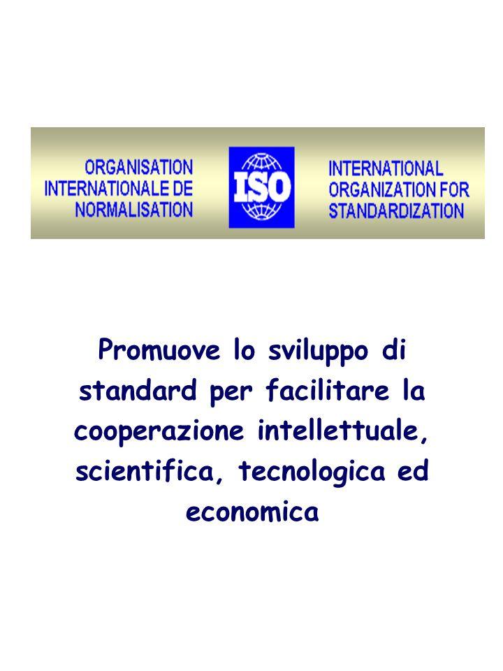 Promuove lo sviluppo di standard per facilitare la cooperazione intellettuale, scientifica, tecnologica ed economica