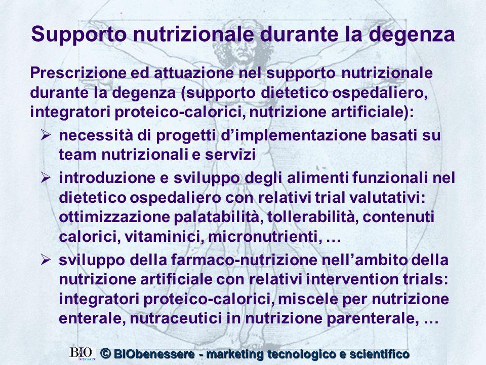 Supporto nutrizionale durante la degenza