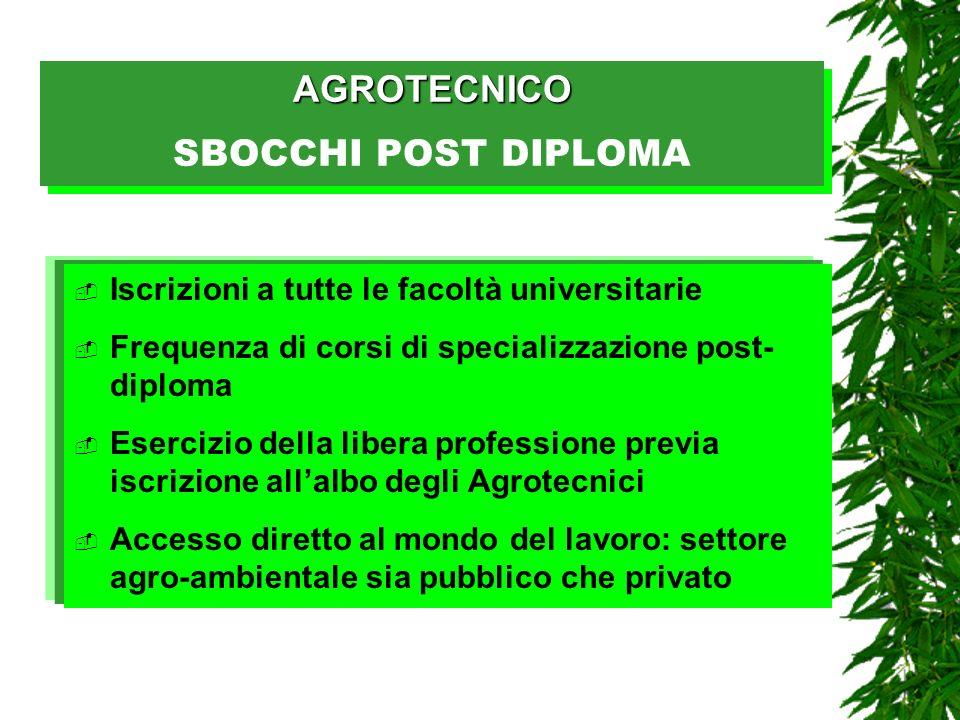 AGROTECNICO SBOCCHI POST DIPLOMA