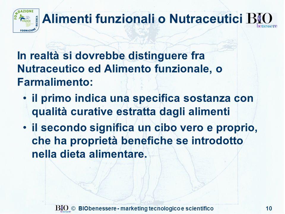 Alimenti funzionali o Nutraceutici