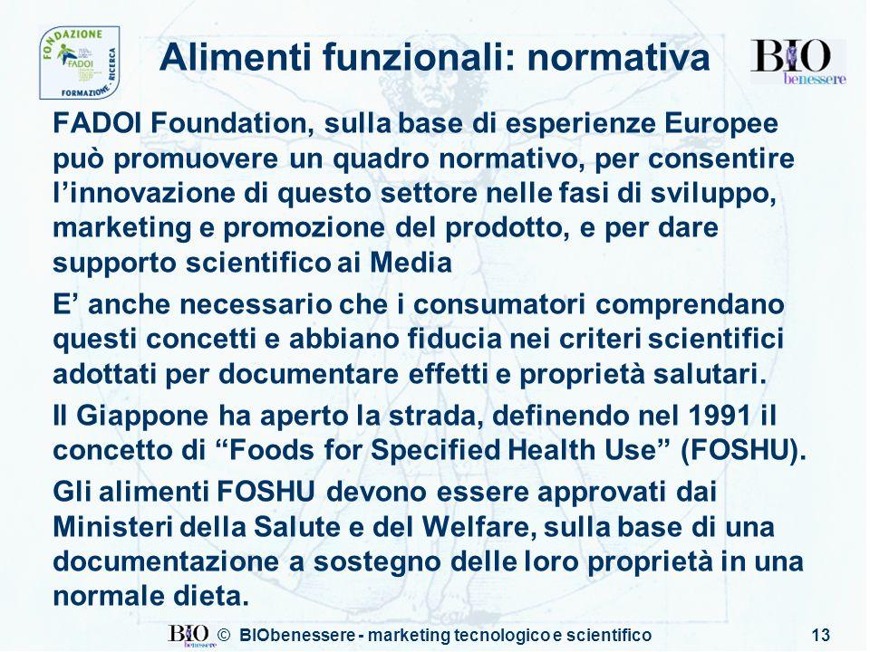 Alimenti funzionali: normativa
