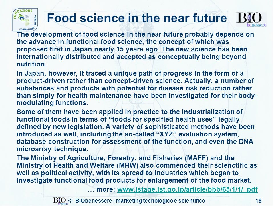 Food science in the near future