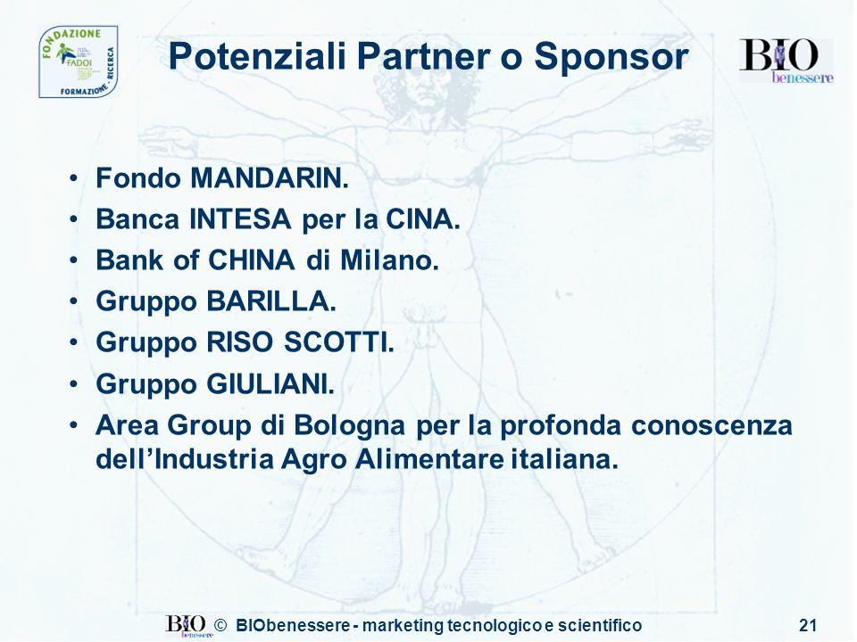 Potenziali Partner o Sponsor