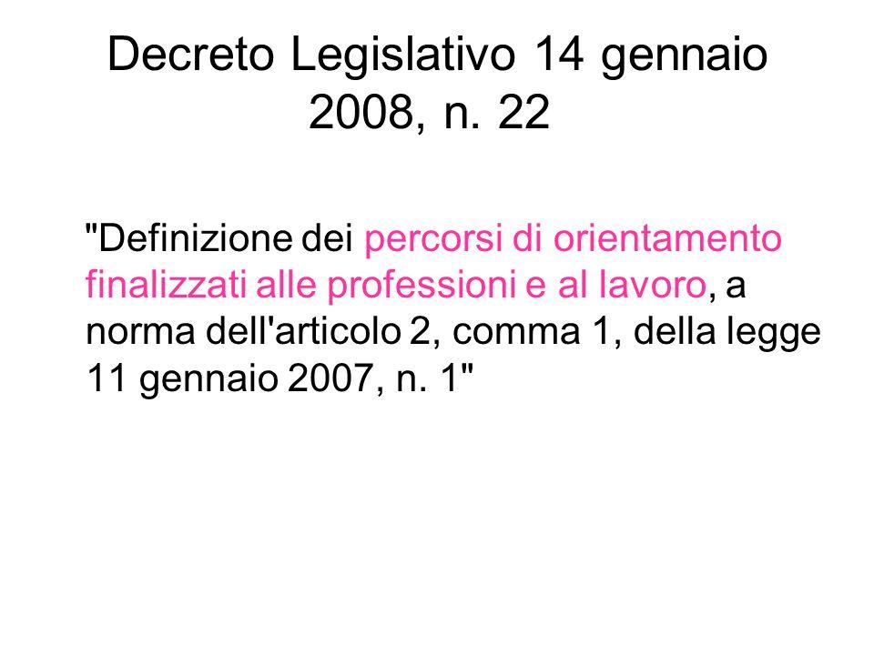 Decreto Legislativo 14 gennaio 2008, n. 22