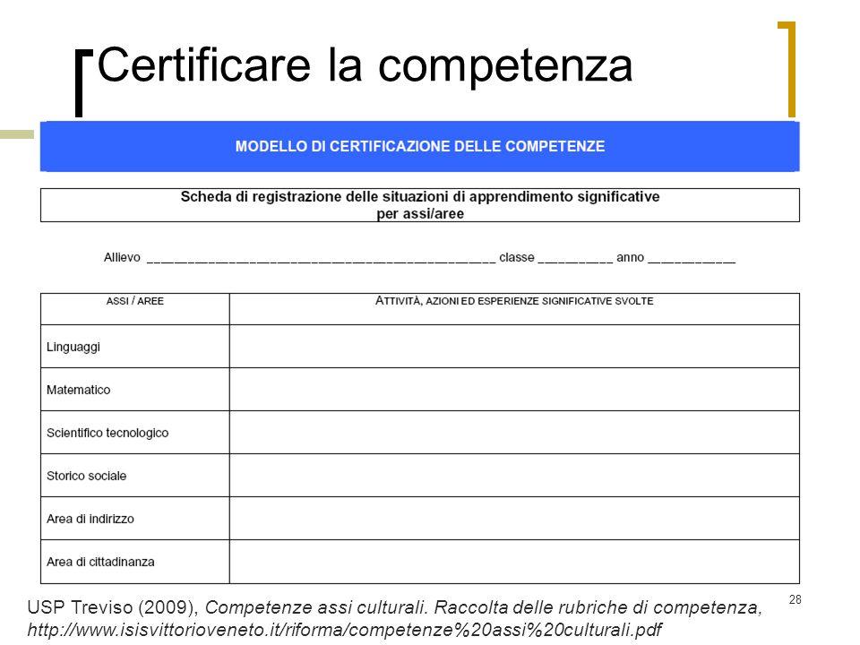 Certificare la competenza