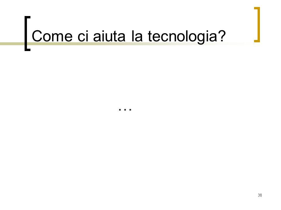 Come ci aiuta la tecnologia