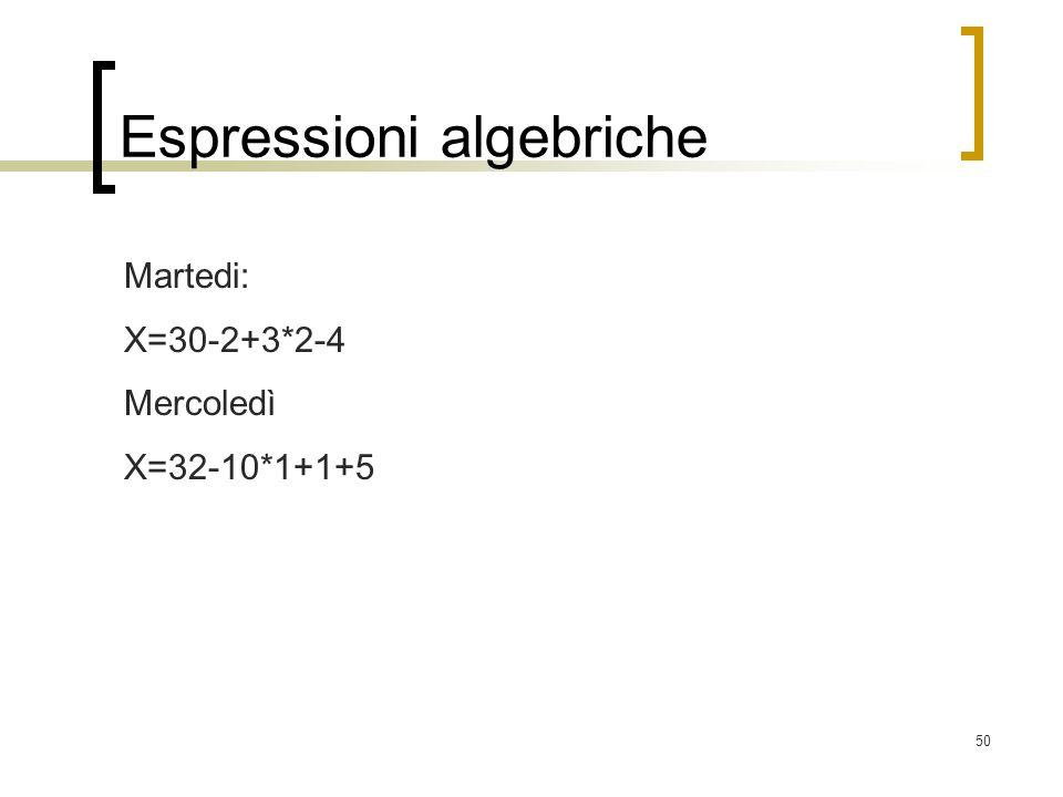 Espressioni algebriche