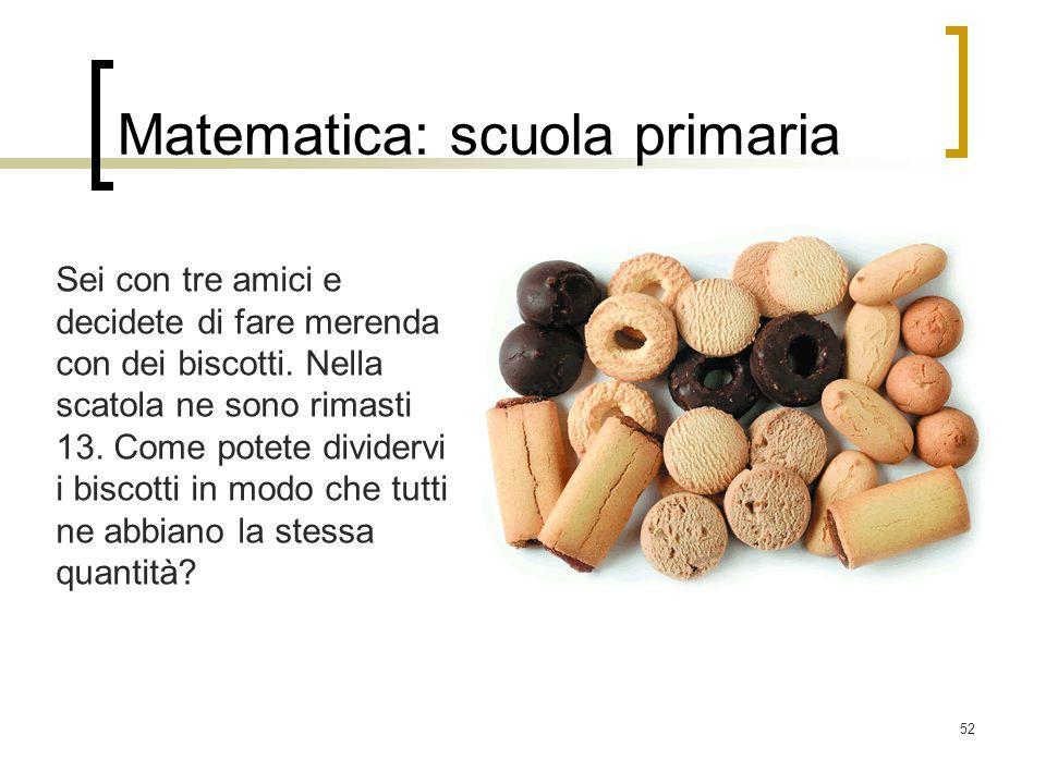 Matematica: scuola primaria