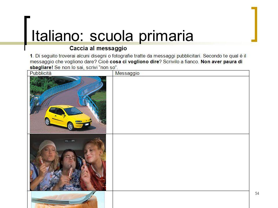 Italiano: scuola primaria