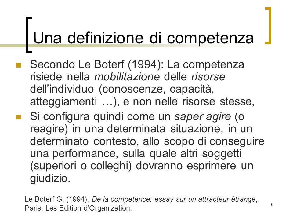 Una definizione di competenza