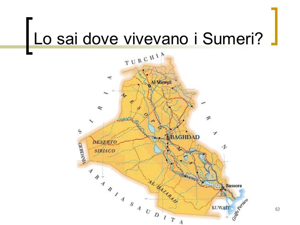Lo sai dove vivevano i Sumeri