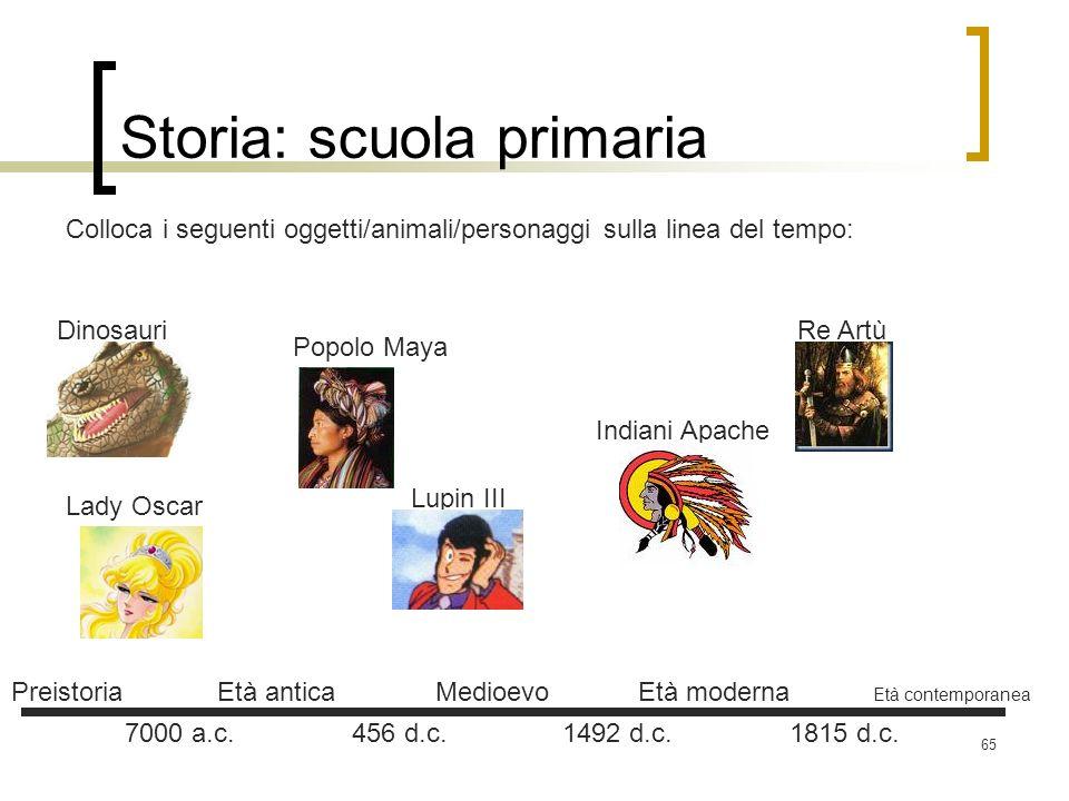 Storia: scuola primaria
