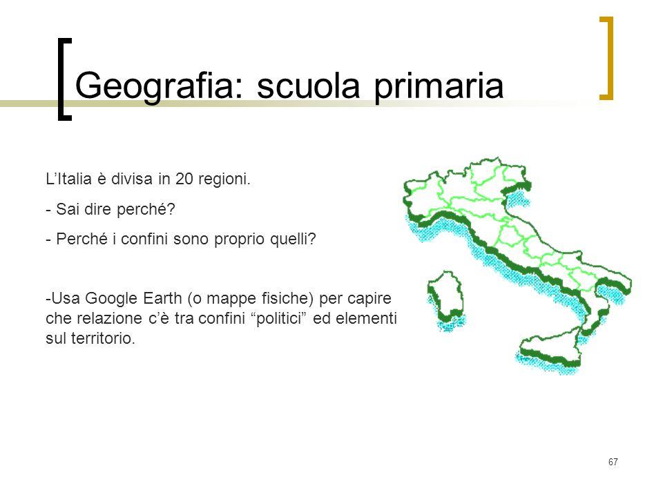 Geografia: scuola primaria