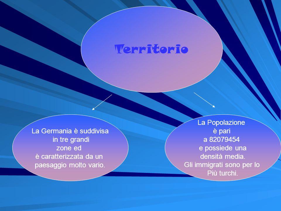 Territorio La Germania è suddivisa in tre grandi zone ed
