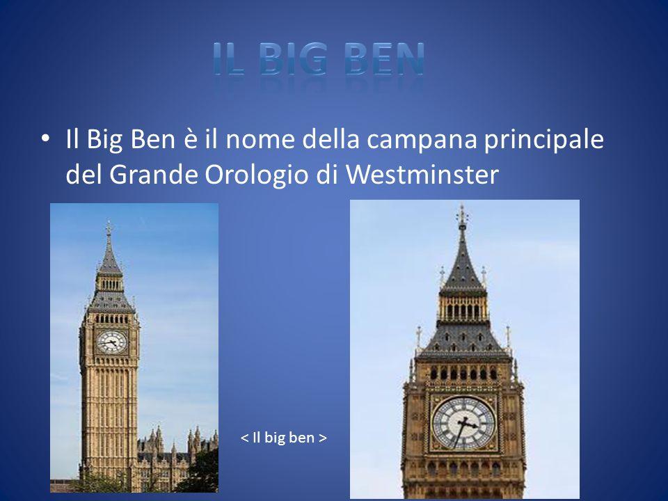 IL BIG BEN Il Big Ben è il nome della campana principale del Grande Orologio di Westminster.